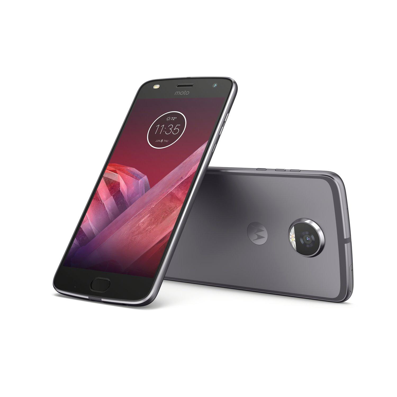"Motorola Moto Z² Play 64 GB Smartphone - 5.5"" Super AMOLED Full HD 1920 x 1080 - 4 GB RAM - Android 7.1.1 Nougat - 4G - Lunar Gray"
