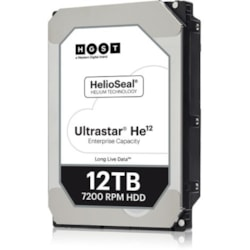 "WD Ultrastar He12 HUH721212AL5200 12 TB Hard Drive - 3.5"" Internal - SAS (12Gb/s SAS)"