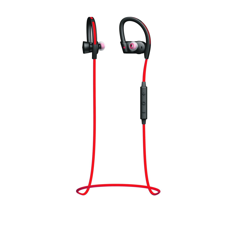 Jabra Sport Pace Wireless Bluetooth Stereo Earset - Earbud, Over-the-ear - In-ear - Red