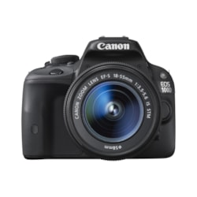 Canon EOS 100D 18 Megapixel Digital SLR Camera with Lens - 18 mm - 55 mm - Black