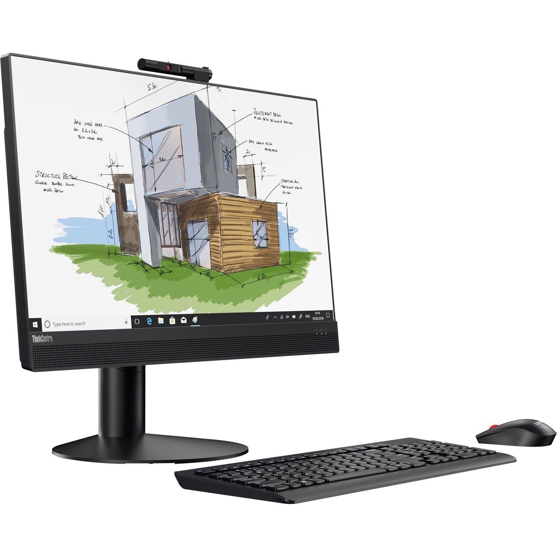 "Lenovo ThinkCentre M920z 10S60003AU All-in-One Computer - Intel Core i5 (8th Gen) i5-8500 3 GHz - 8 GB DDR4 SDRAM - 256 GB SSD - 60.5 cm (23.8"") 1920 x 1080 - Windows 10 Pro 64-bit - Desktop - Business Black"