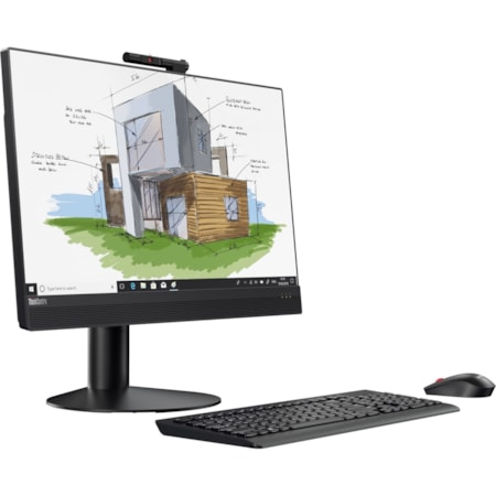 "Lenovo ThinkCentre M920z 10S60004AU All-in-One Computer - Intel Core i5 (8th Gen) i5-8500 3 GHz - 8 GB DDR4 SDRAM - 256 GB SSD - 60.5 cm (23.8"") 1920 x 1080 - Windows 10 Pro 64-bit - Desktop - Business Black"