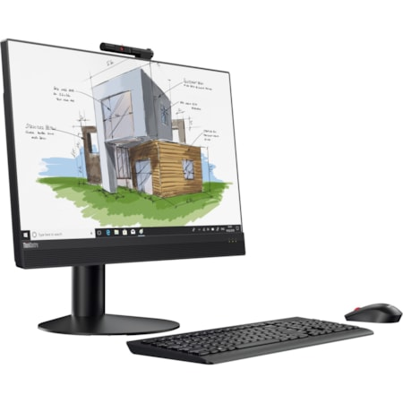 "Lenovo ThinkCentre M920z 10S6000AAU All-in-One Computer - Intel Core i7 (8th Gen) i7-8700 3.20 GHz - 8 GB DDR4 SDRAM - 256 GB SSD - 60.5 cm (23.8"") 1920 x 1080 - Windows 10 Pro 64-bit - Desktop - Business Black"