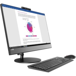 "Lenovo V530-22ICB 10US00H3AU All-in-One Computer - Core i5 i5-9400T - 8 GB RAM - 256 GB SSD - 54.6 cm (21.5"") 1920 x 1080 Touchscreen Display - Desktop - Black"