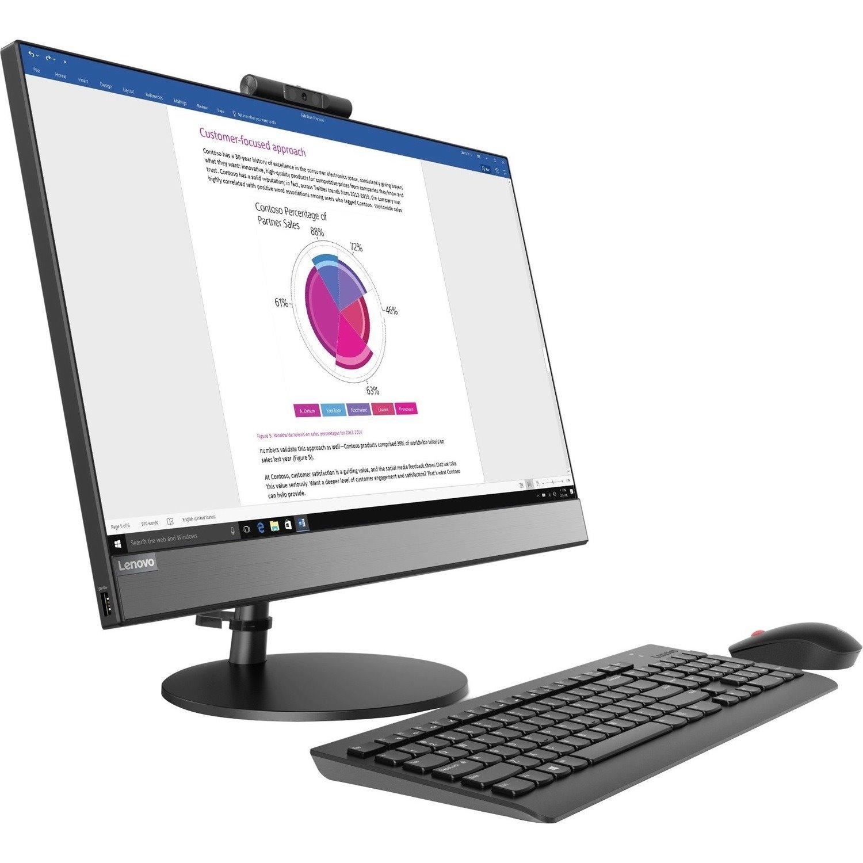 "Lenovo V530-24ICB 10UW00CBAU All-in-One Computer - Core i5 i5-9400T - 8 GB RAM - 256 GB SSD - 60.5 cm (23.8"") 1920 x 1080 Touchscreen Display - Desktop - Black"