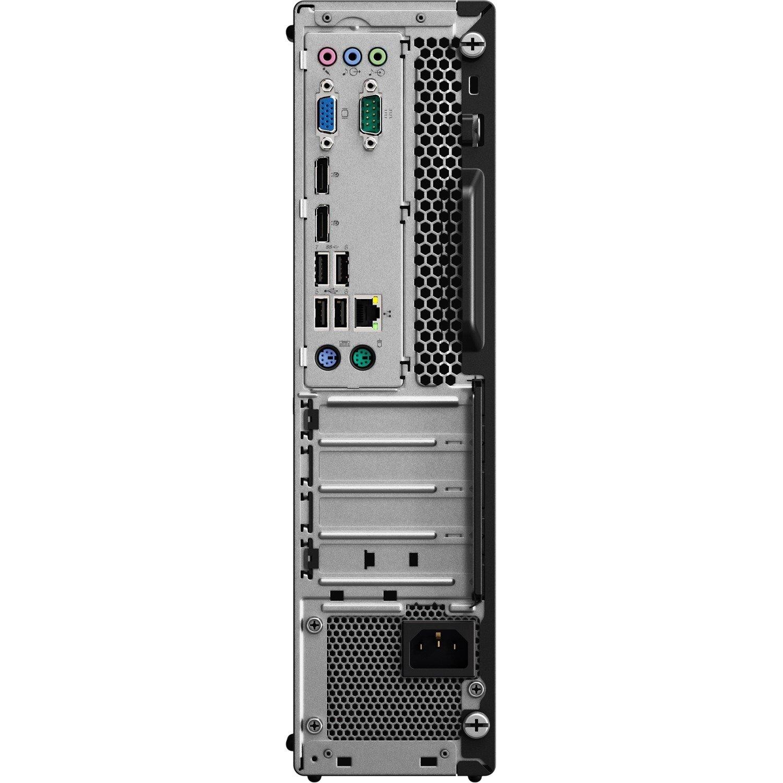 Lenovo ThinkCentre M725s Desktop Computer - Ryzen 5 2400G - 8 GB RAM - 256 GB SSD - Small Form Factor - Business Black