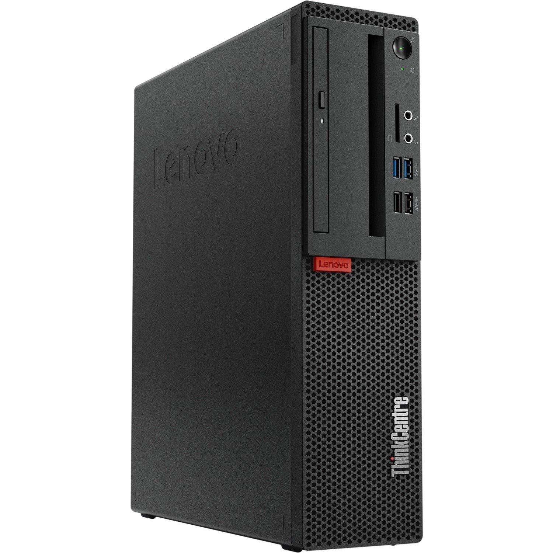 Lenovo ThinkCentre M725s 10VUS0D800 Desktop Computer - AMD Ryzen 5 2400G 3.60 GHz - 8 GB DDR4 SDRAM - 256 GB SSD - Windows 10 Pro 64-bit - Small Form Factor - Business Black