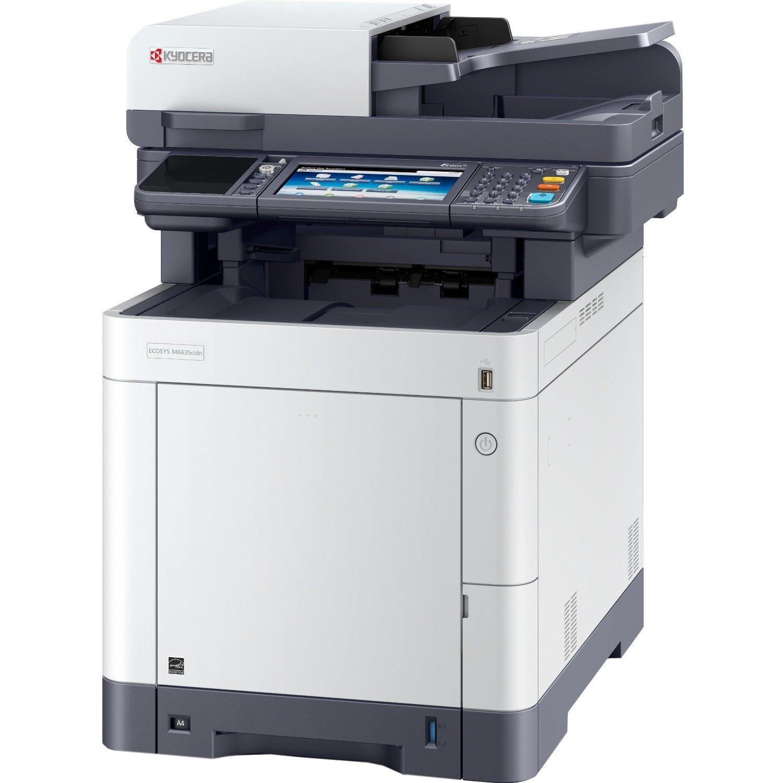 Kyocera M6635cidn Laser Multifunction Printer - Colour - Plain Paper Print - Desktop