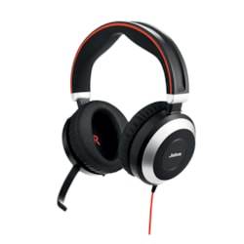 Jabra EVOLVE 80 Wired Stereo Headset - Over-the-head - Circumaural