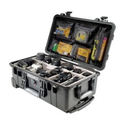Pelican 1510 Medium Carry-On Case Black With Internal Dimension Of 50.2 X 27.9 X 19.3 CM