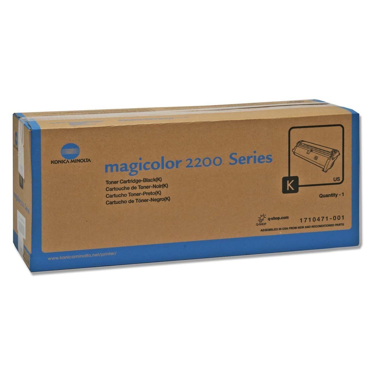 Minolta-QMS 1710471-001 Original Toner Cartridge - Black