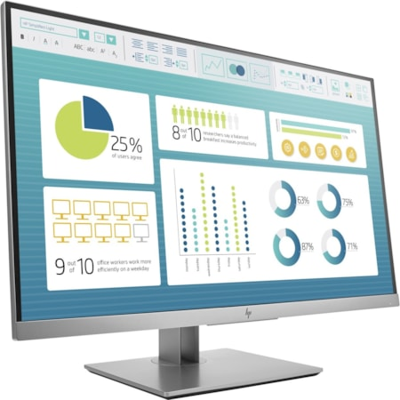 "HP Business E273 68.6 cm (27"") Full HD LED LCD Monitor - 16:9 - Black, Silver"