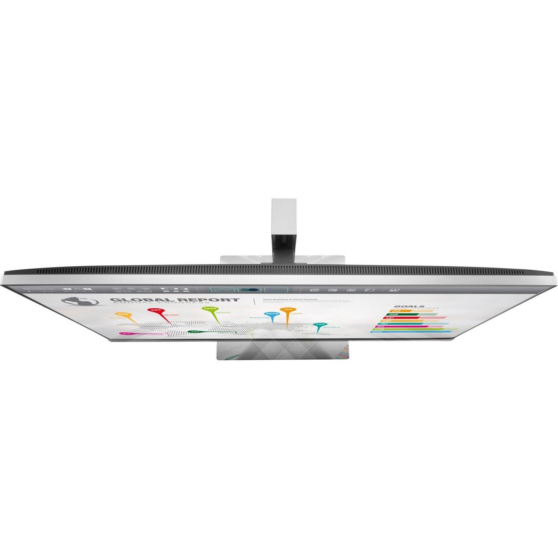 "HP Business E273q 68.6 cm (27"") WUXGA LED LCD Monitor - 16:9 - Black, Silver"