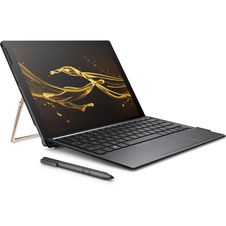 "HP Spectre x2 12-c000 12-c004tu 31.2 cm (12.3"") Touchscreen LCD 2 in 1 Notebook - Intel Core i5 (7th Gen) i5-7260U Dual-core (2 Core) 2.20 GHz - 8 GB LPDDR3 - 256 GB SSD - Windows 10 Home 64-bit - 3000 x 2000 - In-plane Switching (IPS) Technology - Hybrid - Dark Ash Silver, Aluminium"