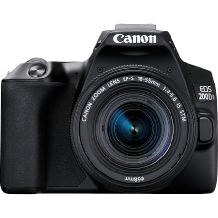 Canon EOS 200D Mark II 24.1 Megapixel Digital SLR Camera with Lens - 18 mm - 55 mm