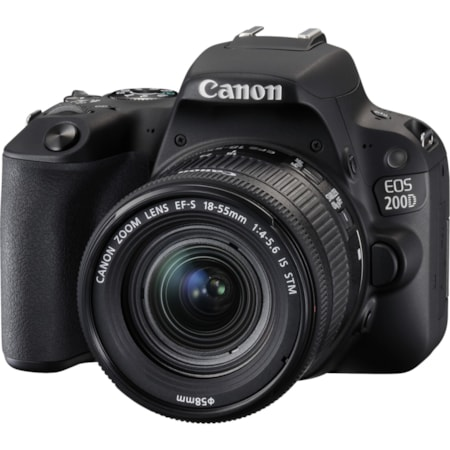 Canon EOS 200D 24.2 Megapixel Digital SLR Camera with Lens - 18 mm - 55 mm