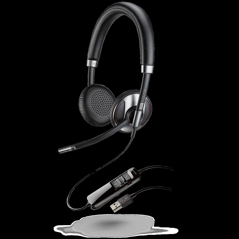 Plantronics Blackwire C725 Binaural Uc Usb Headset W/ Active Noise Cancelling