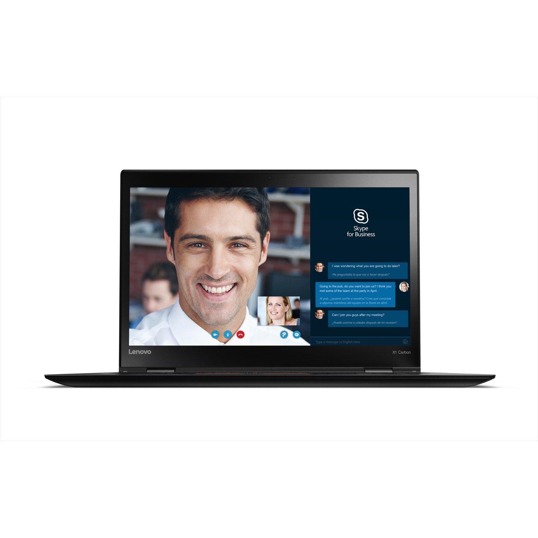 "Lenovo ThinkPad X1 Carbon 20HRA02CAU 35.6 cm (14"") LCD Ultrabook - Intel Core i7 (7th Gen) i7-7500U Dual-core (2 Core) 2.70 GHz - 8 GB LPDDR3 - 512 GB SSD - Windows 10 Pro 64-bit (English) - 2560 x 1440 - In-plane Switching (IPS) Technology - Black"