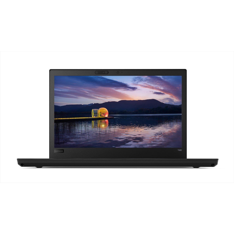 "Lenovo ThinkPad T480 20L5001KAU 35.6 cm (14"") LCD Notebook - Intel Core i5 (8th Gen) i5-8250U Quad-core (4 Core) 1.60 GHz - 8 GB DDR4 SDRAM - 256 GB SSD - Windows 10 Pro 64-bit - 1920 x 1080 - In-plane Switching (IPS) Technology"