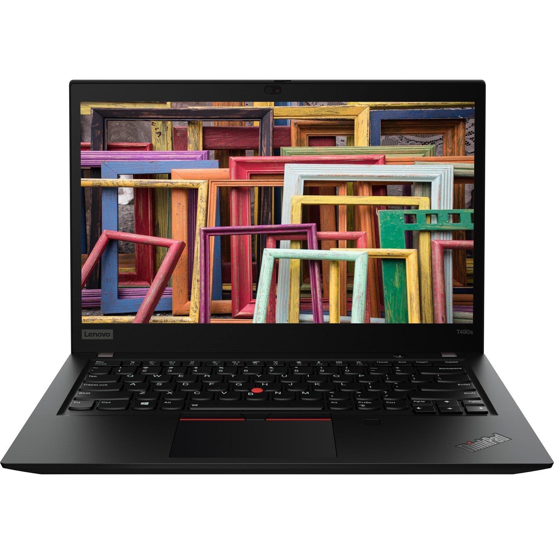"""Lenovo ThinkPad T490s 20NXS03F00 35.6 cm (14"""") Notebook - 1920 x 1080 - Core i5 i5-8265U - 16 GB RAM - 256 GB SSD - Black"""