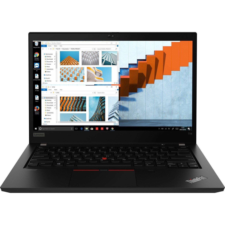 """Lenovo ThinkPad T14 Gen 1 20S0003VAU 35.6 cm (14"""") Notebook - Full HD - 1920 x 1080 - Intel Core i5 (10th Gen) i5-10210U Quad-core (4 Core) 1.60 GHz - 16 GB RAM - 256 GB SSD - Black"""