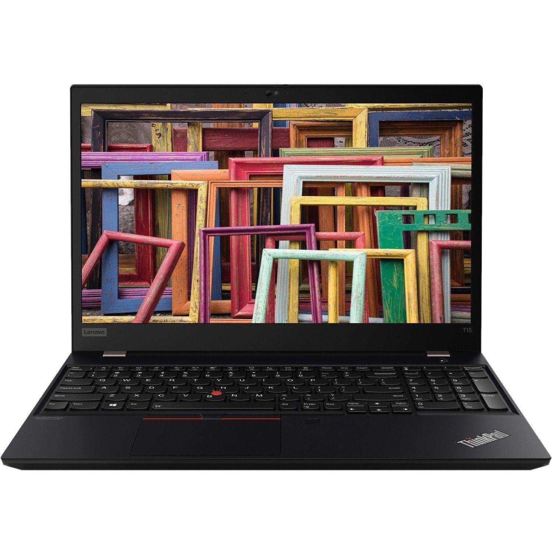 "Lenovo ThinkPad T15 Gen 1 20S60034AU 39.6 cm (15.6"") Notebook - Full HD - 1920 x 1080 - Intel Core i5 (10th Gen) i5-10210U Quad-core (4 Core) 1.60 GHz - 8 GB RAM - 256 GB SSD - Glossy Black"