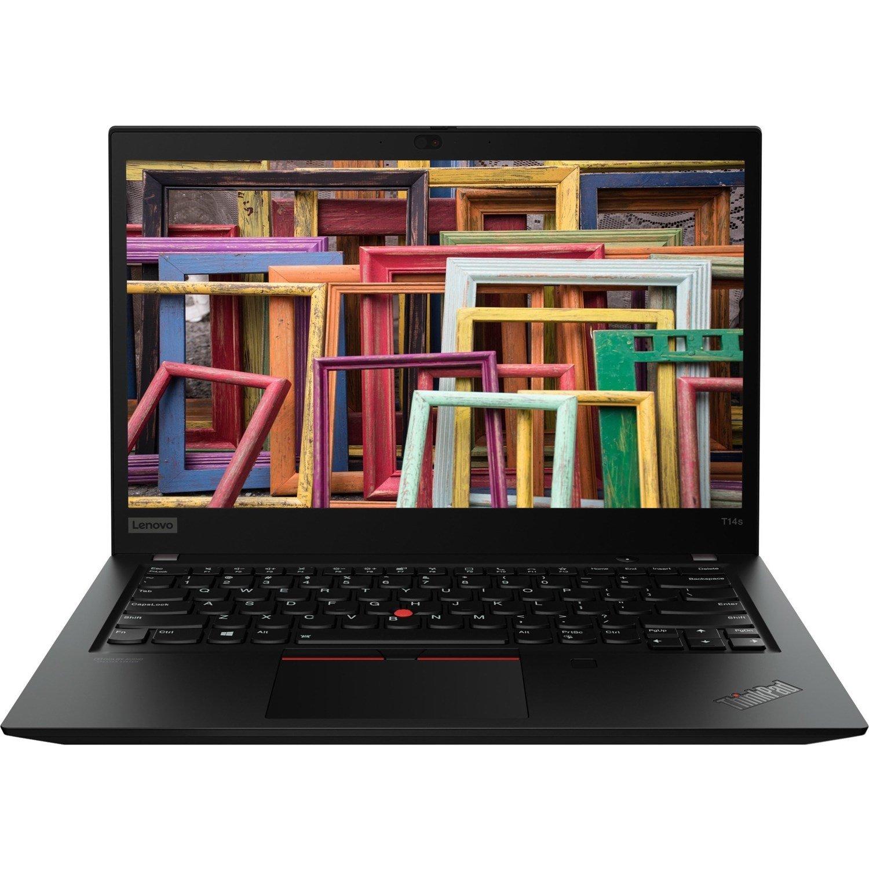 """Lenovo ThinkPad T14s Gen 1 20T0003PAU 35.6 cm (14"""") Notebook - Full HD - 1920 x 1080 - Intel Core i5 (10th Gen) i5-10210U Quad-core (4 Core) 1.60 GHz - 8 GB RAM - 512 GB SSD - Black"""