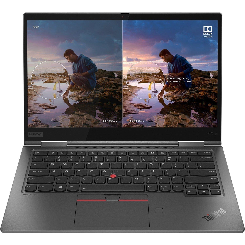 """Lenovo ThinkPad X1 Yoga Gen 5 20UB0052AU 35.6 cm (14"""") Touchscreen 2 in 1 Notebook - Full HD - 1920 x 1080 - Intel Core i5 (10th Gen) i5-10210U Quad-core (4 Core) 1.60 GHz - 16 GB RAM - 512 GB SSD - Iron Grey"""