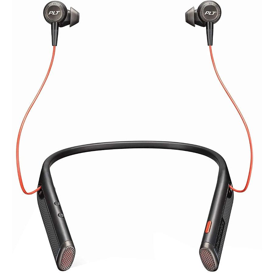 Poly Plantronics Voyager B6200 Uc Earbud Neckband Stereo Usb-C Bluetooth Headset, Black