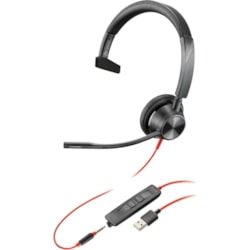 Plantronics Blackwire BW3315-M USB-A Wired Over-the-head Mono Headset