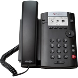Polycom 201 IP Phone - Wall Mountable, Desktop - Black