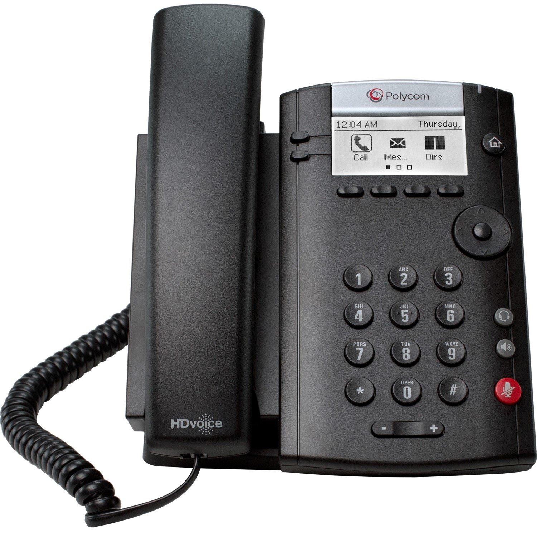 Polycom 201 IP Phone - Wall Mountable, Desktop - Black