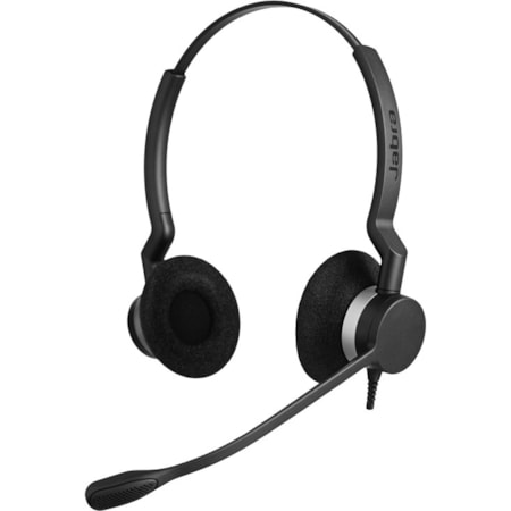 Jabra BIZ 2300 QD Wired Stereo Headset - Over-the-head - Supra-aural