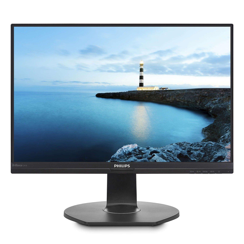 "Philips Brilliance 241B7QUPEB 60.5 cm (23.8"") Full HD WLED LCD Monitor - 16:9 - Textured Black"
