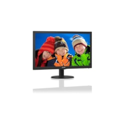 "Philips V-line 243V5QHABA 59.9 cm (23.6"") Full HD LED LCD Monitor - 16:9 - Hairline Textured Black"