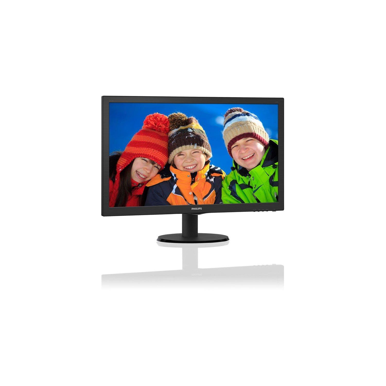 """Philips V-line 243V5QHABA 59.9 cm (23.6"""") Full HD LED LCD Monitor - 16:9 - Hairline Textured Black"""