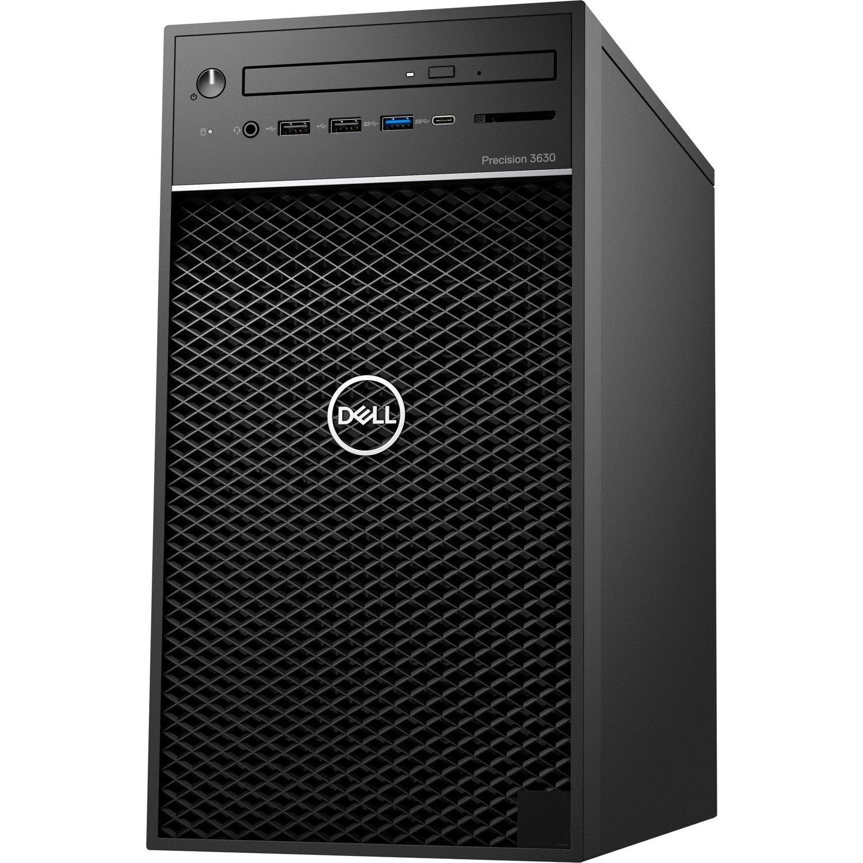 Dell Precision 3000 3630 Workstation - Intel Core i5 (8th Gen) i5-8500 Hexa-core (6 Core) 3 GHz - 8 GB DDR4 SDRAM - 256 GB SSDNVIDIA Quadro P620 2 GB Graphics - Windows 10 Pro 64-bit (English) - Tower