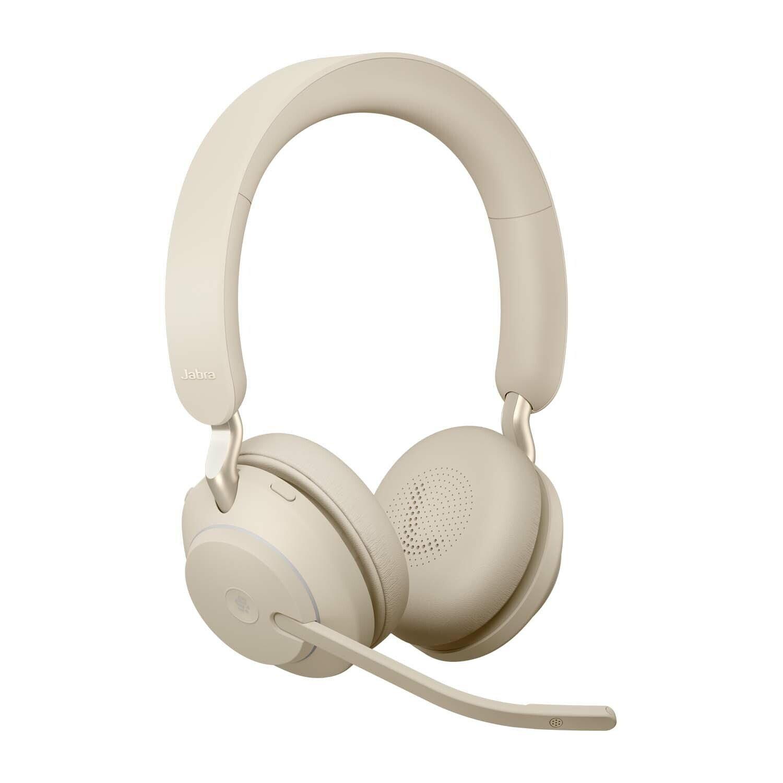 Jabra Evolve2 65 Wireless Over-the-head Mono Headset - Beige