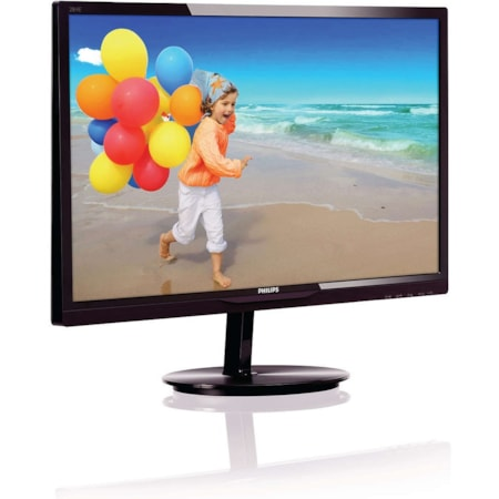 "Philips E-line 284E5QHAD 71.1 cm (28"") Full HD WLED LCD Monitor - 16:9 - Glossy Black Cherry"