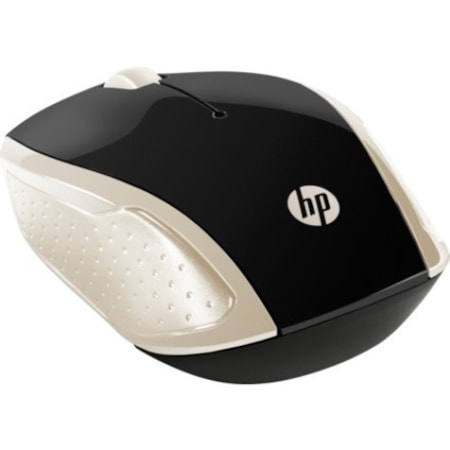 HP 200 Mouse - Optical - Wireless - 3 Button(s) - Silk Gold