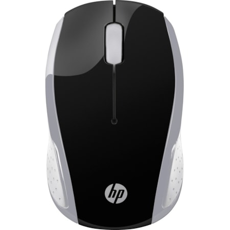 HP 200 Mouse - Optical - Wireless - 3 Button(s) - Pike Silver
