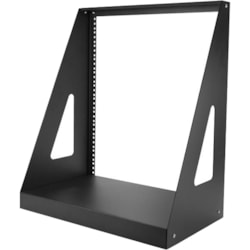 StarTech.com 12U Floor Standing, Tabletop Rack Frame for A/V Equipment, Server, Patch Panel, LAN Switch - 482.60 mm Rack Width - Black - TAA Compliant