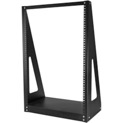 StarTech.com 16U Floor Standing, Tabletop Rack Frame for Server, Patch Panel, LAN Switch, A/V Equipment - 482.60 mm Rack Width - Black - TAA Compliant