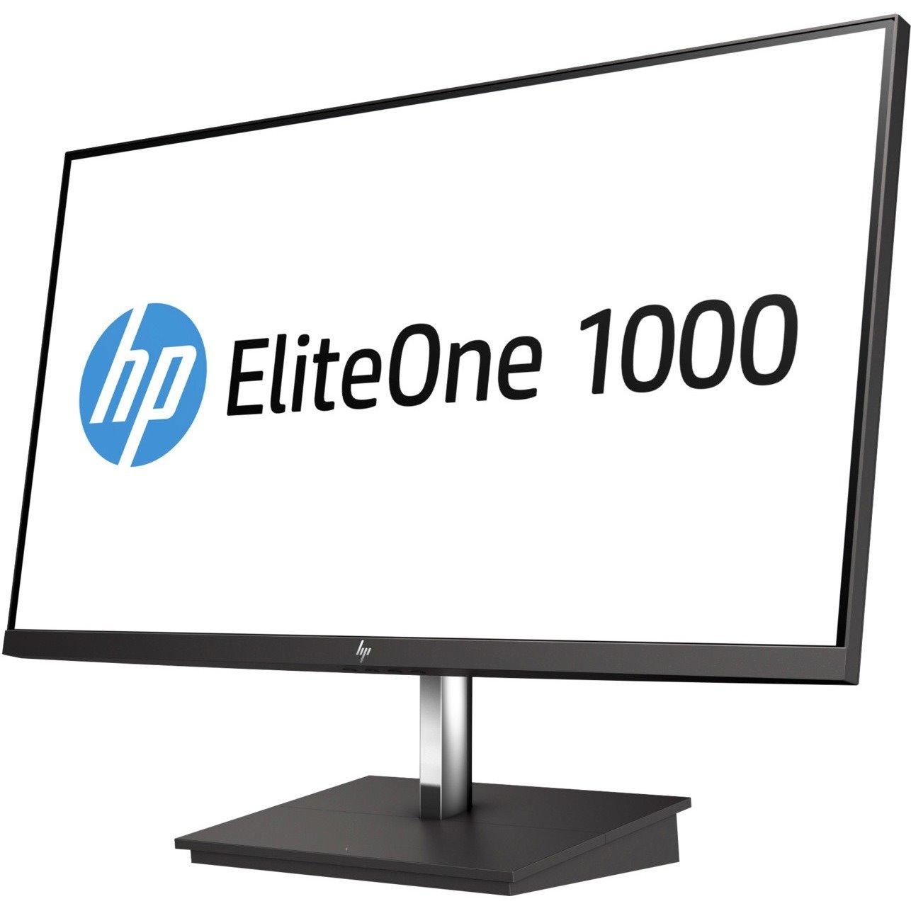 "HP EliteOne 1000 60.5 cm (23.8"") Full HD WLED LCD Monitor - 16:9 - Black, Silver"