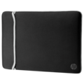 """HP Carrying Case (Sleeve) for 39.6 cm (15.6"""") Notebook - Black, Silver"""