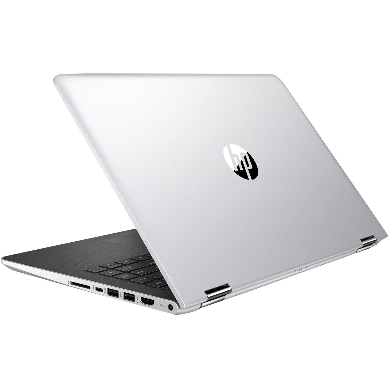 "HP Pavilion x360 14-ba100 14-ba106tu 35.6 cm (14"") Touchscreen LCD 2 in 1 Notebook - Intel Core i5 (8th Gen) i5-8250U Quad-core (4 Core) 1.60 GHz - 8 GB DDR4 SDRAM - 256 GB SSD - Windows 10 Home 64-bit - 1366 x 768 - Convertible - Natural Silver"