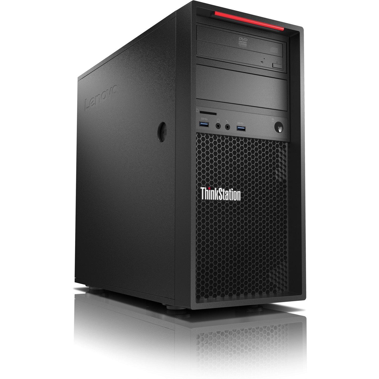Lenovo ThinkStation P320 30BHS0VW00 Workstation - 1 x Intel Xeon E3-1245 v6 Quad-core (4 Core) 3.70 GHz - 32 GB DDR4 SDRAM - 2 TB HDD - 512 GB SSD - Windows 10 Pro 64-bit - Tower - Raven Black