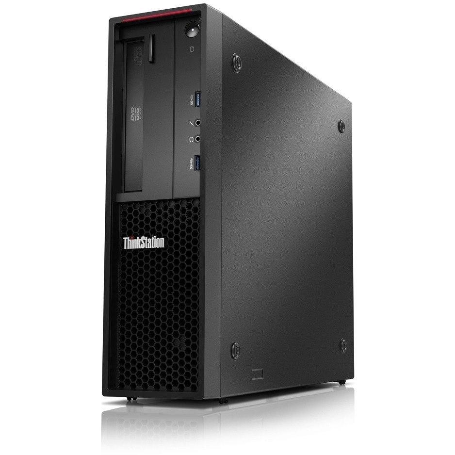 Lenovo ThinkStation P320 30BJS32X00 Workstation - 1 x Intel Xeon E3-1220 v6 Quad-core (4 Core) 3 GHz - 16 GB DDR4 SDRAM - 512 GB SSD - NVIDIA Quadro P1000 4 GB Graphics - Windows 10 Pro 64-bit - Small Form Factor - Raven Black