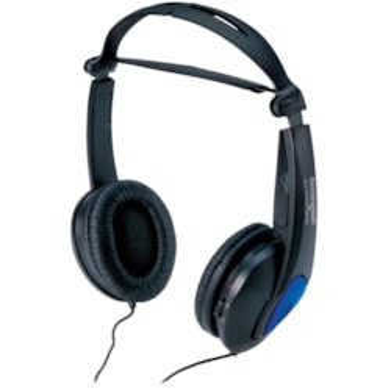 Kensington K33084 Wired Stereo Headphone - Over-the-head - Supra-aural - Black