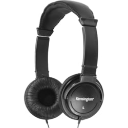 Kensington K33137 Wired Stereo Headphone - Over-the-head - Circumaural - Black